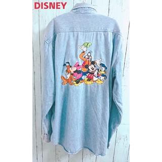 Disney - 90s DISNEY  ディズニー デニムシャツ ミッキーマウス ミニー