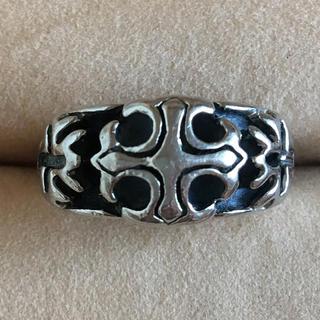(112)クロムハーツ風 クロスモチーフリング シルバー ヴィンテージ(リング(指輪))