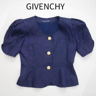 ジバンシィ(GIVENCHY)のGIVENCHY ジバンシー 10号 麻100% ジャケット(テーラードジャケット)
