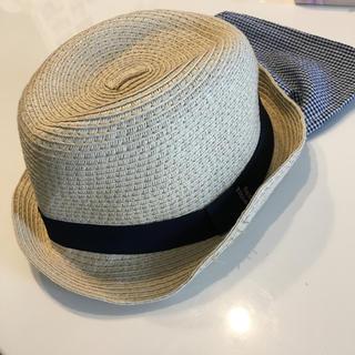 アカチャンホンポ(アカチャンホンポ)の麦わら帽子 中折れ 52㎝ カンカン帽 日焼け防止 日除け(帽子)