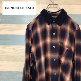 ツモリチサト(TSUMORI CHISATO)のツモリチサト チェックシャツ 切り返しニット(シャツ)