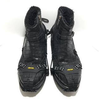 vibram - vibram Portable sole+MAURON クロコブーツ black