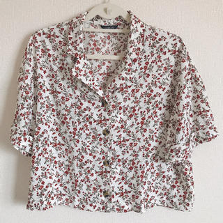 ブラウス 半袖 柄シャツ 花柄シャツ シャツ レディース 未使用 Mサイズ