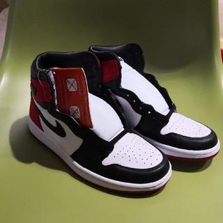 ナイキ(NIKE)の24.5 Jordan 1 Retro High Satin Black Toe(スニーカー)