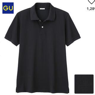 GU -  GU  ジーユー    ドライポロシャツ(半袖)  ブラック