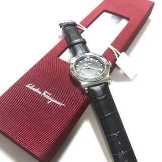 フェラガモ(Ferragamo)の正規品 Ferragano サルヴァトーレフェラガモ レザー腕時計 ブラック(腕時計)