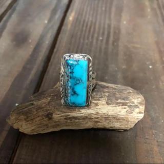 新品未使用 ナバホ族 ターコイズ スクエア リング(リング(指輪))