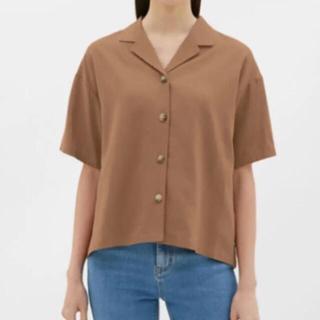 GU - GU リネンブレンドオープンカラーシャツ