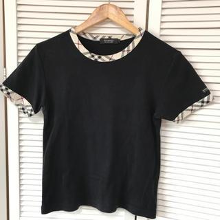 バーバリーブラックレーベル(BURBERRY BLACK LABEL)のBURBERRY BLACK LABELの半袖カットソー★サイズ1ブラック(Tシャツ/カットソー(半袖/袖なし))
