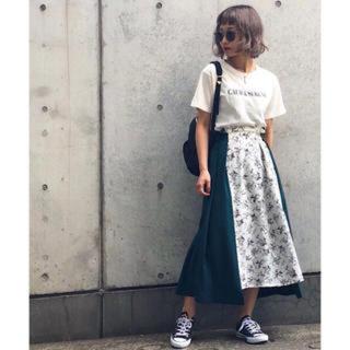 PAGEBOY - PAGEBOY 花柄切り替えスカート