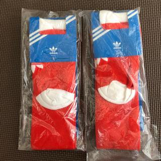 アディダス(adidas)の赤 ハイソックス  サッカーソックス(ソックス)