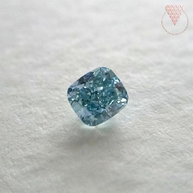 0.133 ct Fancy Vivid Green Blue SI1 AGT レディースのアクセサリー(リング(指輪))の商品写真