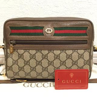 Gucci - 極美品♡大人気横シェリーライン オールド GUCCIグッチ ショルダーバッグ