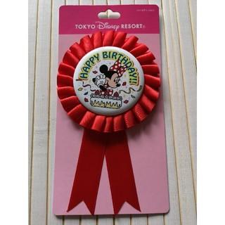 Disney - 【新品・未使用】ディズニー ハッピーバースデー 缶バッチ ミニーちゃん