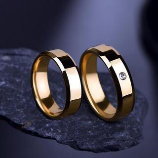 ステンレスリング ステンレス指輪 シンプル一粒リング