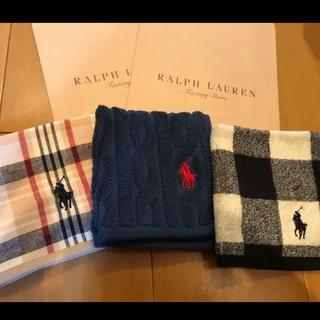 Ralph Lauren - 新品●袋付 ラルフローレンのタオルハンカチ 3枚