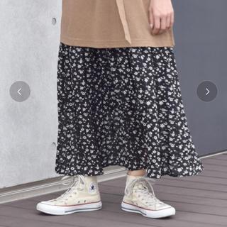 w closet - ダブルクローゼット*花柄ロングスカート