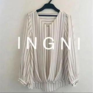 INGNI - 2019最新★ I N G N Iイング★裾タックバー付トロミ/ブラウス