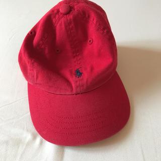 ポロラルフローレン(POLO RALPH LAUREN)のラルフローレン 赤 キャップ  帽子 未使用(帽子)
