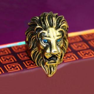 新品◆ライオンのリング ゴールド14(リング(指輪))