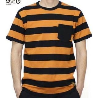 スカルワークス/ボーダー/Tシャツ/オレンジ/111826/クローズ(Tシャツ/カットソー(半袖/袖なし))