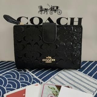 コーチ(COACH)のCOACH 二つ折りミニ財布新品未使用 F25937(折り財布)