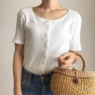 エディットフォールル(EDIT.FOR LULU)の古着 vintage 透かし編みリブトップス(カットソー(半袖/袖なし))