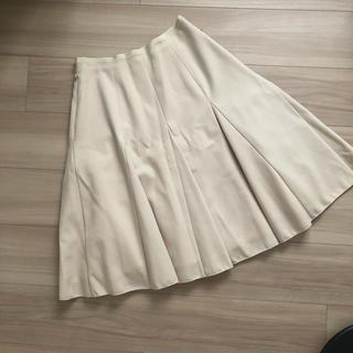 フォクシー(FOXEY)のフレアスカート  ベージュ 38サイズ フォクシー(ひざ丈スカート)