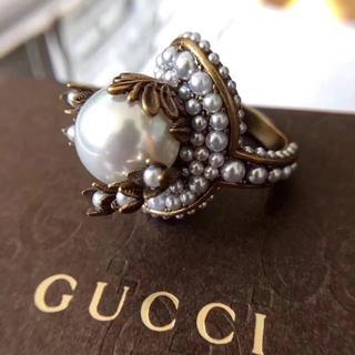 グッチ(Gucci)のGUCCIグッチの真珠の指輪(リング(指輪))