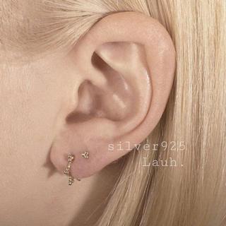 BEAMS - j111.pebbly stud pierce(gold)