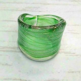 VR19 縞模様 ベネチアン ガラス リング ベネチアリング 指輪(リング(指輪))