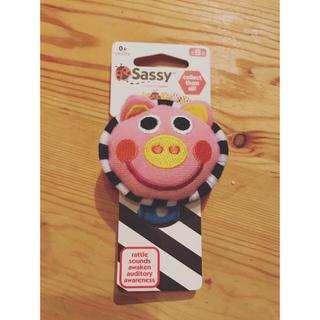 サッシー(Sassy)のSassy  にこにこリストラトル カラフル・チャームバンド(がらがら/ラトル)