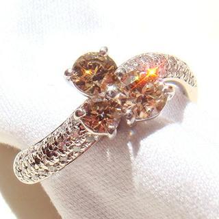 【ブラウンダイヤモンド】Pt900&ダイヤモンド1.15ct 14号リング(リング(指輪))
