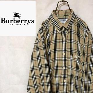 BURBERRY - バーバリーズ ☆90s ノバチェック 長袖 BDシャツ L