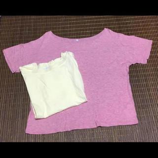 ムジルシリョウヒン(MUJI (無印良品))の無印  Tシャツ  2枚(Tシャツ(半袖/袖なし))