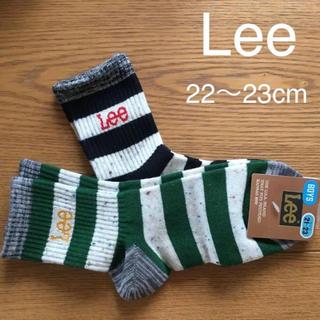 リー(Lee)の新品 LEE 靴下 おしゃれ ボーダー ソックス 21-23cm リー(靴下/タイツ)