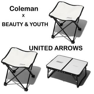 コールマン(Coleman)のコールマン BEAUTY&YOUTH コラボ ミニテーブル スツール セット(テーブル/チェア)