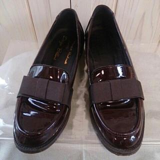 ディエゴベリーニ(DIEGO BELLINI)のDiegoBellini ブラウン エナメル ローファー(ローファー/革靴)