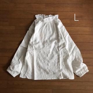 SM2 - 新品◎サマンサモスモス フリル衿ブラウス L オフホワイト