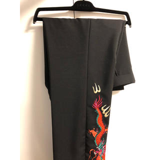 Gucci - グッチ ドラゴン エンブロイダリー トラウザー 龍 刺繍