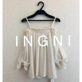 INGNI - 新品✴︎ I N G N Iイング✴︎袖リボントロミオフショル5分袖/TOPS