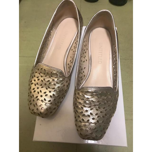 UNTITLED(アンタイトル)のuntitled パンプス  ゴールド パンチング ローヒール レディースの靴/シューズ(ハイヒール/パンプス)の商品写真