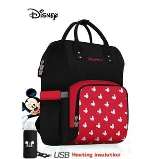 Disney - Disney マザーズバッグ/マザーズリュック/ミッキー/ブラック×レッド