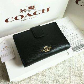 Vivienne Westwood - COACH長財布 コーチ正規品 F53436 ブラック 二つ折り財布 女性用財布