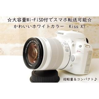 ☆Wi-FiSD付☆かわいいホワイトカラー☆キャノン kiss X7