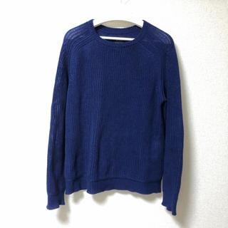 ビームス(BEAMS)のBEAMS ざっくり編みニット パープル ビームス セーター 紫 ニット(ニット/セーター)