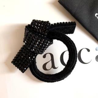 acca - acca リボンゴム オードリー 定番 黒 ブラック