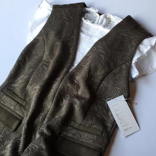 mame - mame ジャガード オールインワン ジャンプスーツ 刺繍 マメ