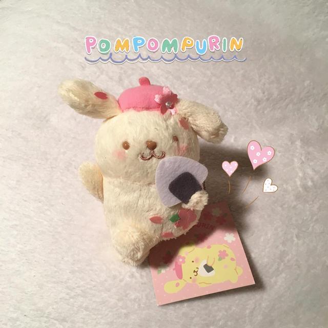 ポムポムプリン お花見マスコットホルダー エンタメ/ホビーのおもちゃ/ぬいぐるみ(キャラクターグッズ)の商品写真