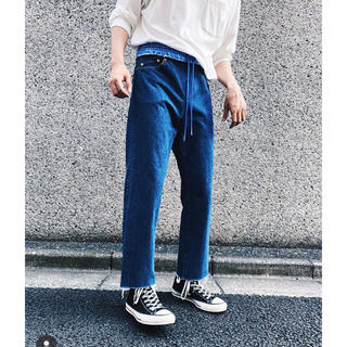 【Name.】FAKE LAYERED WAIST DENIM PANTS